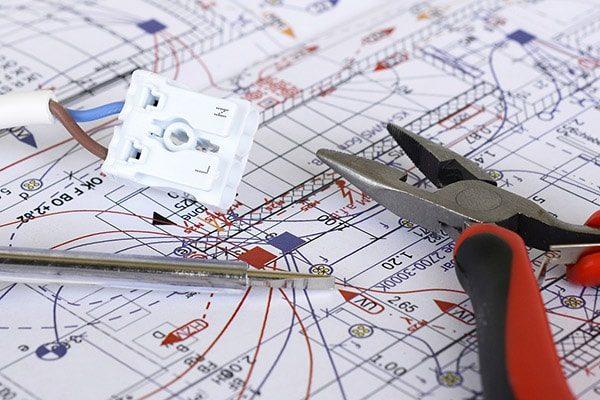 elektriker køge - el-entreprise plantegning ledning